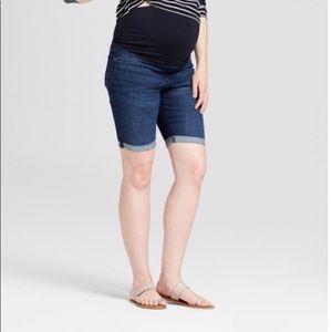 Maternity Crossover Panel Bermuda shorts 16 or 18